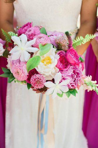 summer wedding bouquets bright fuschia with greenery chries mok via instagram
