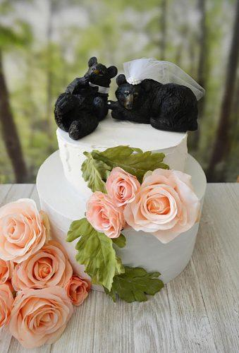 unique wedding cake toppers bear couple MorganTheCreator3