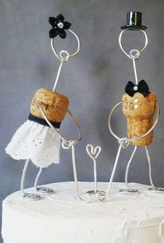 unique wedding cake toppers diy bride groom corkyfriendz