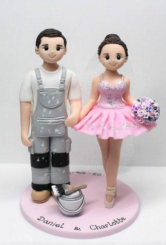 unique wedding cake toppers painter balerina artlocke designs
