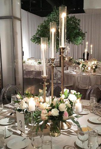 wedding centerpieces decor with flower candles rachelaclingen