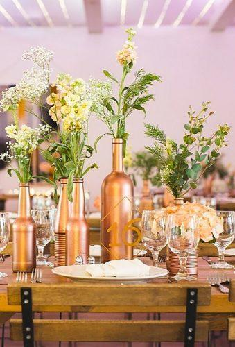 wedding centerpieces gold bottle centerpieces bloominous