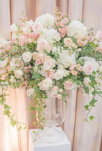 wedding centerpieces tender blush flower rachelaclingen