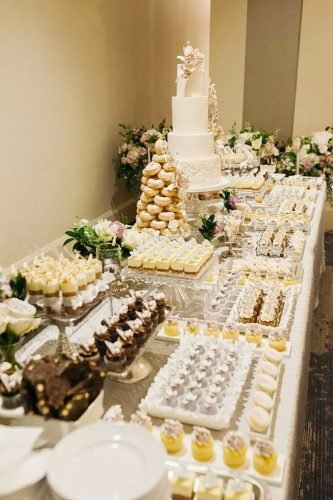 wedding dessert table ideas vintage modern classic desert table Jennifer Xu Photography