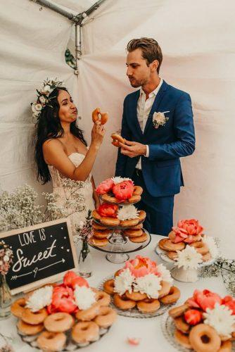 wedding dessert table ideas vintage modern donuts bar jennycollen