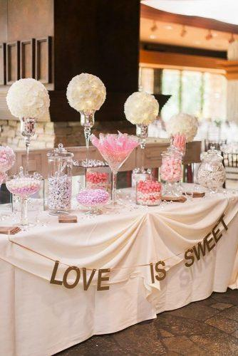 wedding dessert table ideas vintage modern pink candy bar Sposto Photography