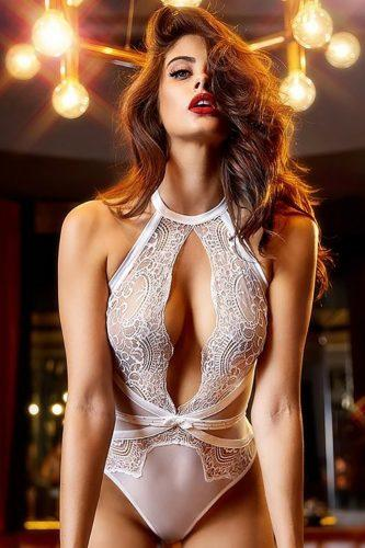 wedding lingerie white lace bodysuit honeybirdette