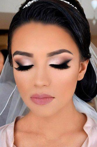 wedding makeup bright smokey bride with veil vanitymakeup