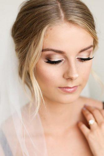 wedding makeup romantic bride with veil marisarosemph
