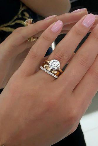 wedding rings modern diamond gold stylish