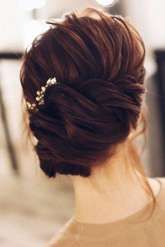 wedding updos for long hair red hair side updo tonya pushkareva