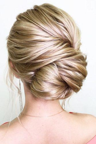 wedding updos for long hair side updo blond oksana sergeeva