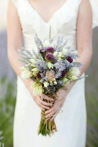 wildflower wedding bouquets with lavender and white flowers kt merry photography