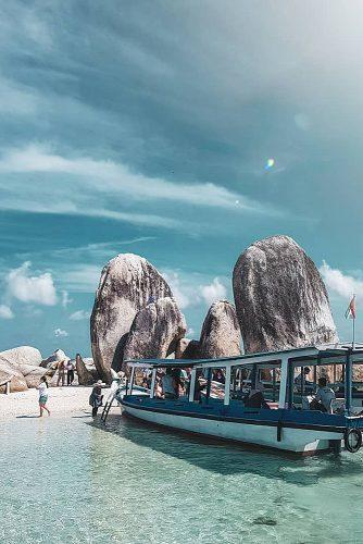 affordable honeymoon packages belitung island yacht at the beach