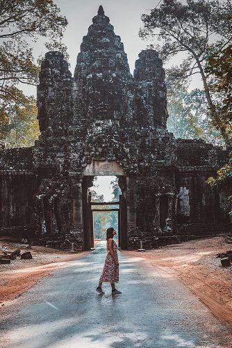 affordable honeymoon packages cambodia girl at the nature architecture