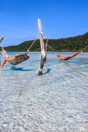 affordable honeymoon packages cambodia hammocks in the water