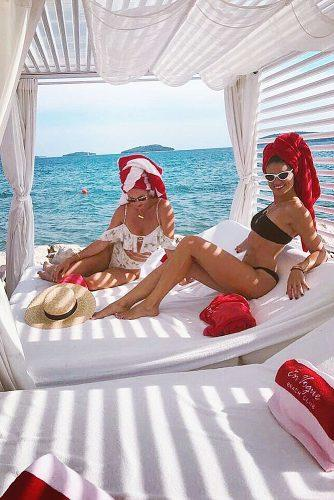 affordable honeymoon packages hvar croatia girls relaxing at the beach