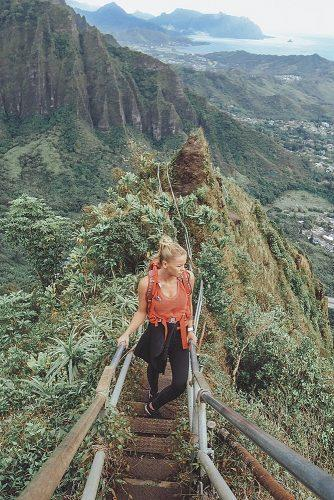 affordable honeymoon packages oahu hawaii girl hiking mountains