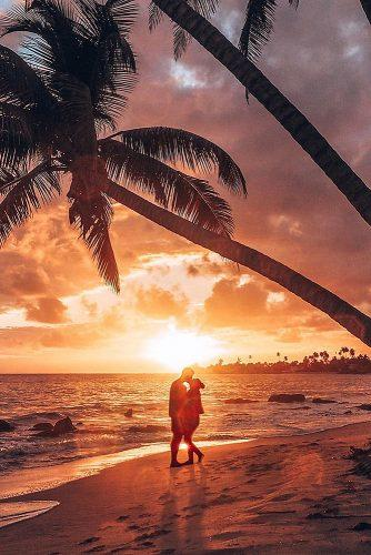 affordable honeymoon packages puerto rico couple kissing at the evening beach