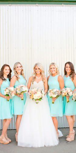 bateau neck short mint bridesmaid dresses aime bridal