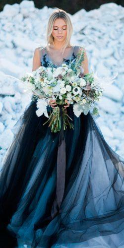 blue wedding dresses ombre ball gown sleeveless kelly ann