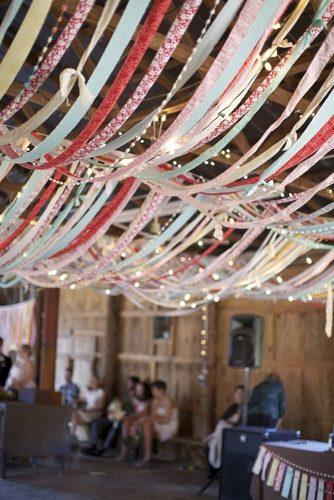 cheap wedding decorations ribboned barn wedding reception anna naphtali photography