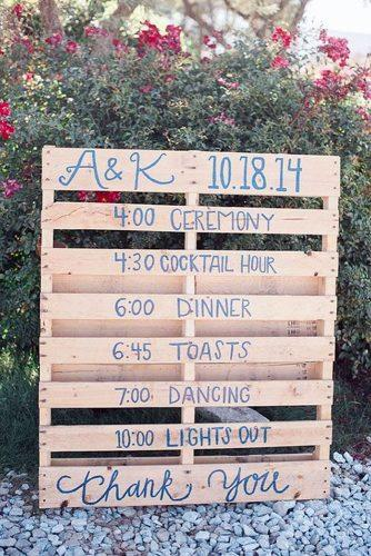 cheap wedding decorations wedding timetable on wooden pallets brandi welles