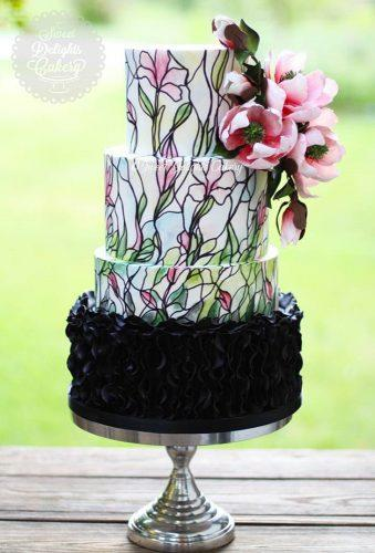 colored wedding cakes flower watercolor cake sd cakery