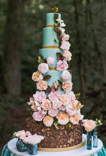 colored wedding cakes green flower cake elizabethscakeemporium