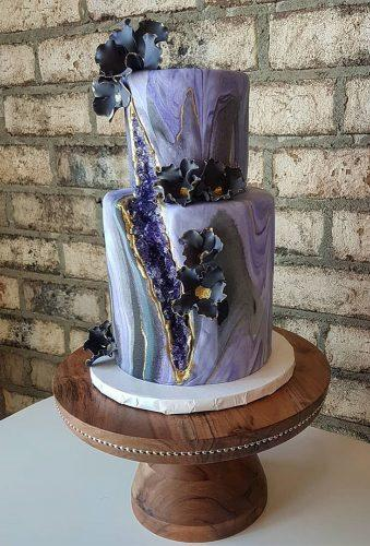 colored wedding cakes moder violet cake sugarbytracy