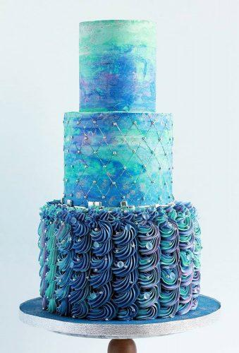 colored wedding cakes modern0blue cake sweetavenuecakery