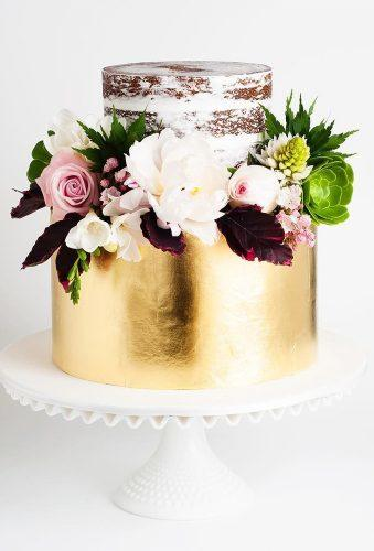 colored wedding cakes small wedding cake with gold cake ink