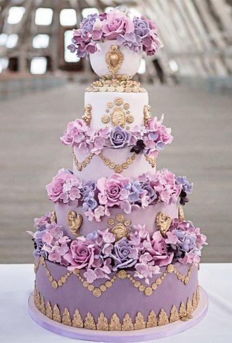 colored wedding cakes violet dlower wedding cake wedding pages