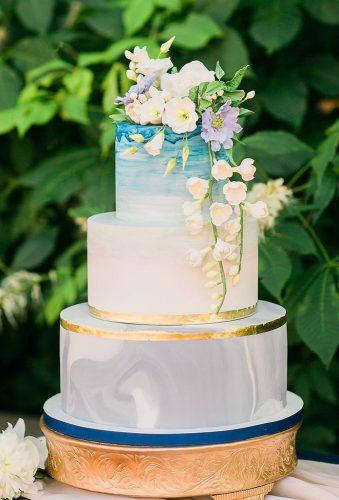 colored wedding cakestender cake with flowers elysiarootcakes