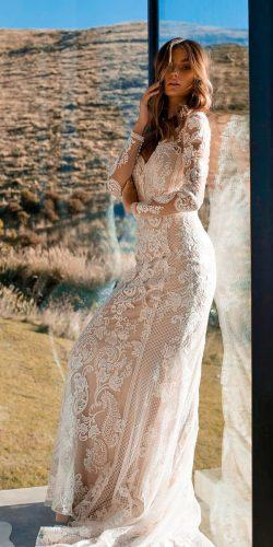 country vintage style sheath lace sweetheart neck long sleeve wedding dresses madi lane bridal