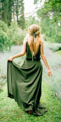 forest green bridesmaid dresses floor length with v neckline and spaghetti straps janna warm