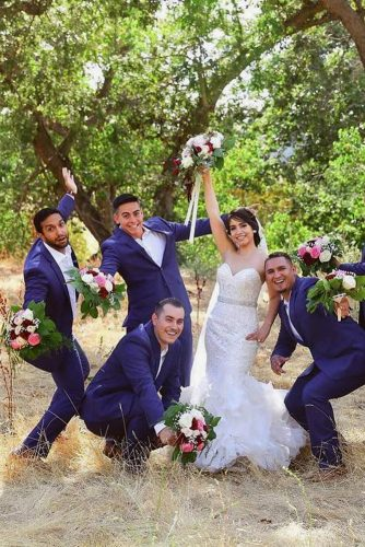 groomsmen photos happy funny with bride k taylorphotography via instagram
