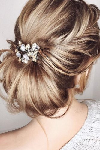 hair accessories inspiration twisted updo with crystals elstilespb