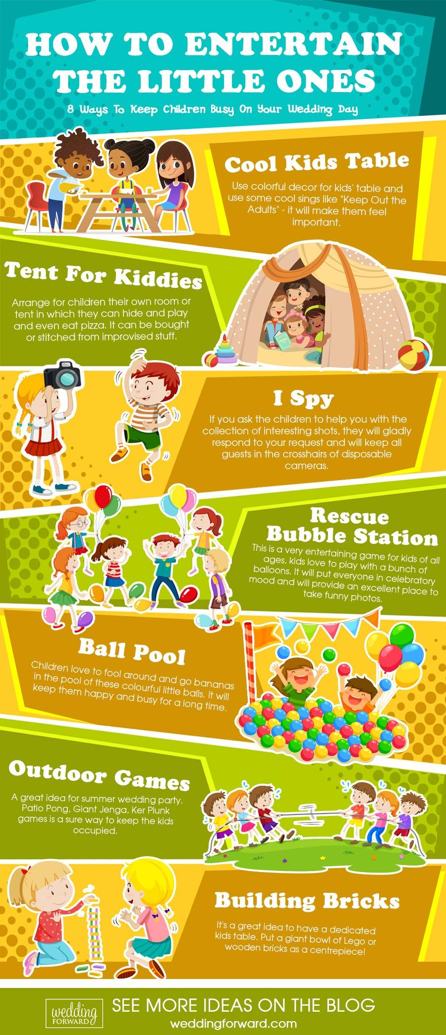 wedding entertainment infographics how to entertain kids ways to keep children busy