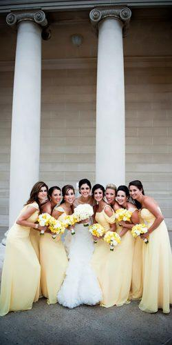 long floor length yellow bridesmaid dresses tia сlaire studio