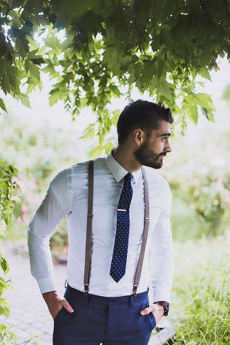 mens wedding attire blue tie pants with suspenders alixann loosle