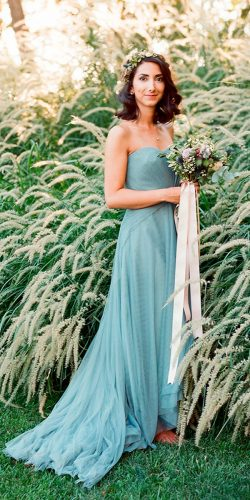 mint bridesmaid dresses dusty strapless sweetheart neckline clayton austin