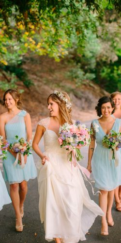 mint bridesmaid dresses short v neckline one shoulder danielle capito