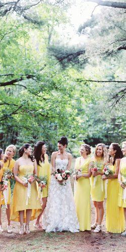 mismatched yellow bridesmaid dresses jillian mitchell