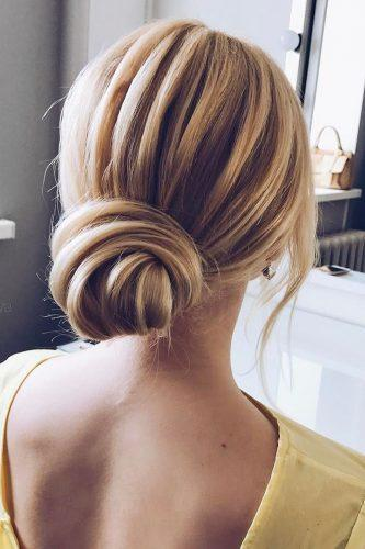 mother of the bride hairstyles low bun for short hair verafursova