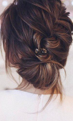 romantic bridal updos wedding hairstyles simple braided updo tonyastylist