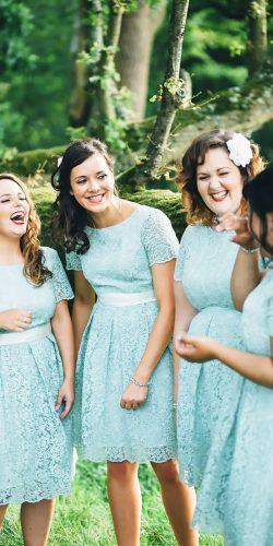 short lace with sleeves mint bridesmaid dresses new forest studio