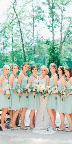 short strapless sweetheart neck mint bridesmaid dresses donna morgan