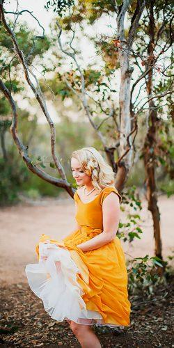 short with ruffled skirt bright yellow bridesmaid dresses lakshal perera