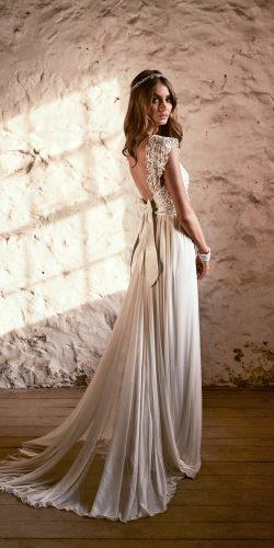 silk tulle shimmering sequins lace shoulder low open back wedding dresses by anna campbell alyssa